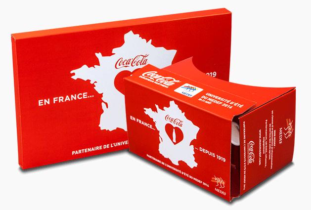 cardboard sample coca france
